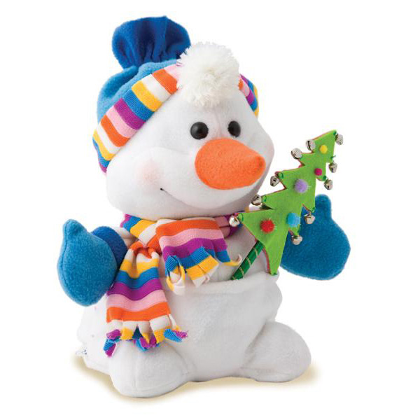 Снеговик из конфет на новый год своими